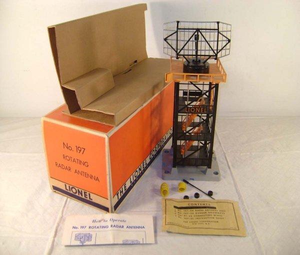 814: ABT: Lionel #197 Radar Tower/Orange/56+ OB+
