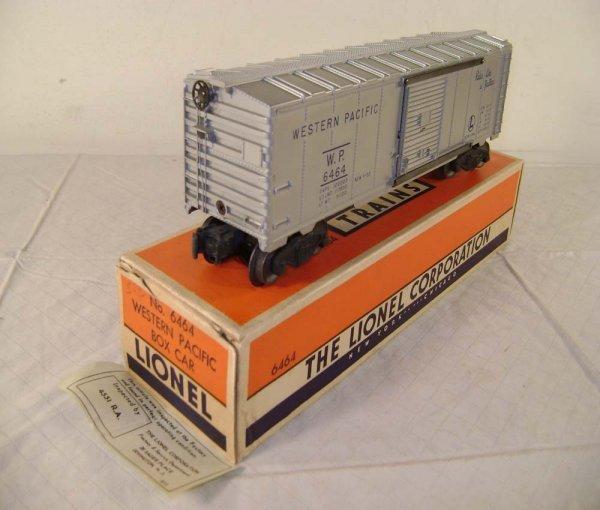 816: ABT: Lionel #6464-1 WP Silver Box Car/ Brick OB