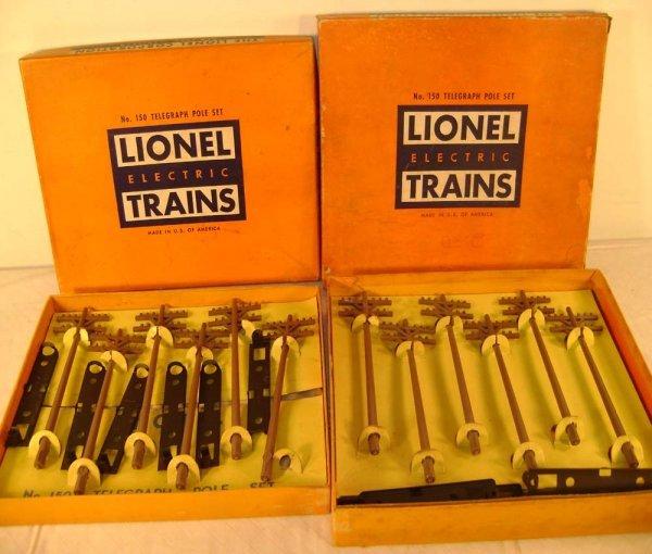 817: ABT: 2 Variations/Lionel #150 Telegraph Sets/Obs