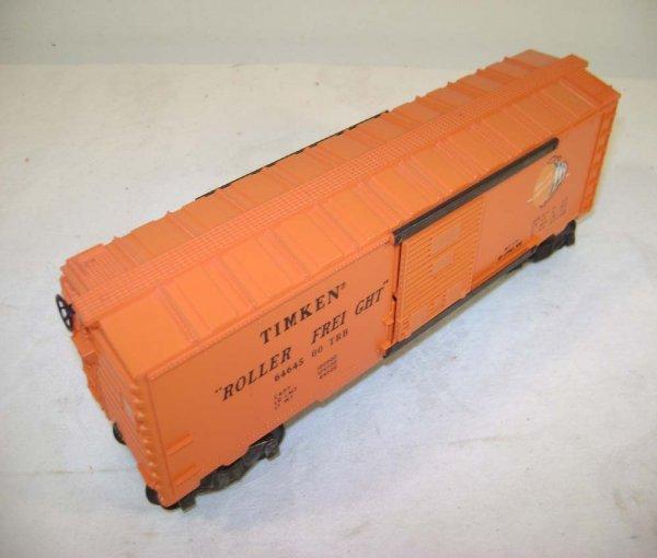 819: ABT: Lionel /MPC #6464-500 Orange Timken Box Car