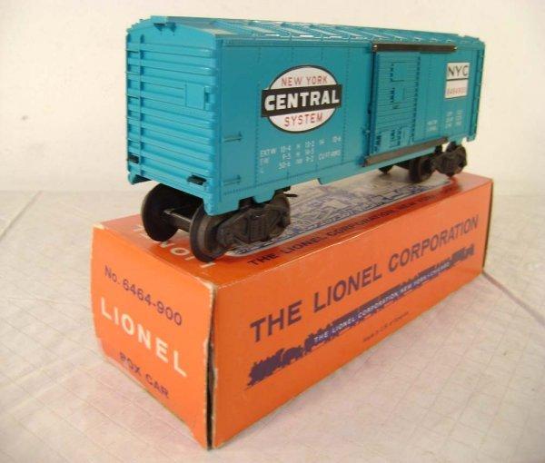 822: ABT: Lionel #6464-900 NYC Box Car/Nice Pix OB