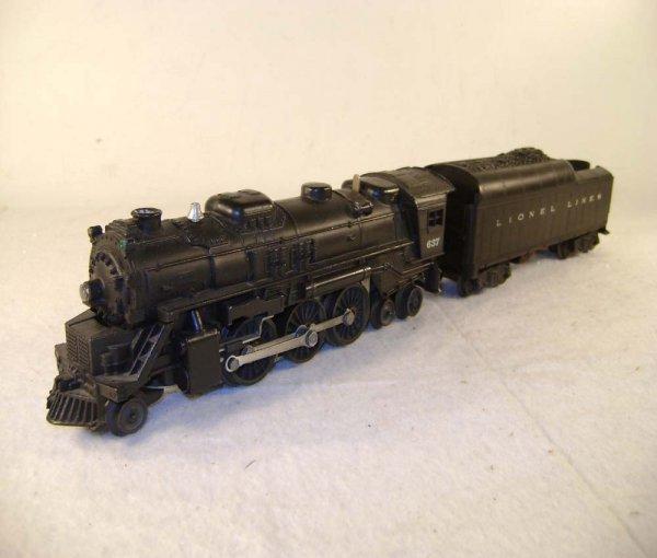 6: ABT: Lionel #637 Engine & #2046W Whistle Tender