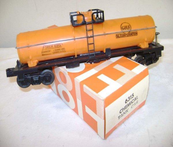 9: ABT: Lionel #6315 Gulf Chemical Tank Car/1969 Box