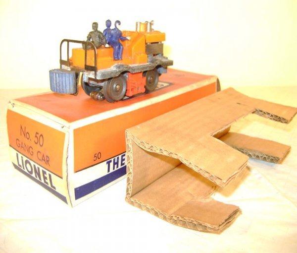 12: ABT: Lionel #50 Early Gang Car/Orange OB+