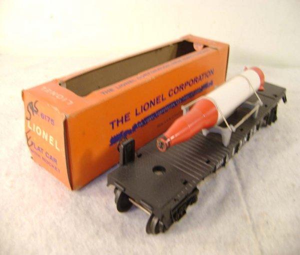 13: ABT: Lionel #6175 Black Flat Rocket Car/59 OB