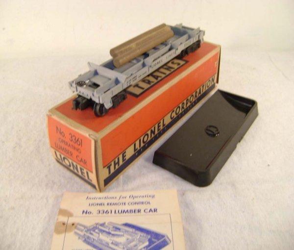 19: ABT: Lionel #3361 Sep-Sale Log Car/56+ Original Box