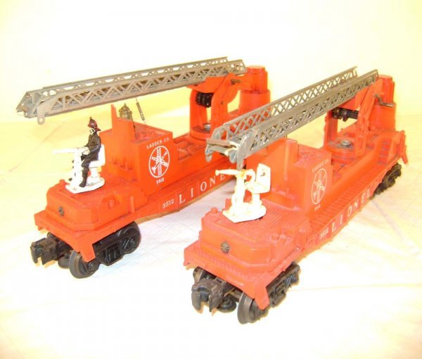 22: ABT: 2 Lionel #3512 Silver Ladders Fireman Cars