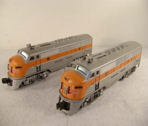 100: ABT: Lionel #2345 Western Pacific F-3 AA Diesels