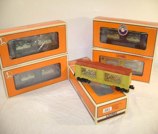407: ABT: 5 Mint Lionel Mint Bullion Cars/Obs