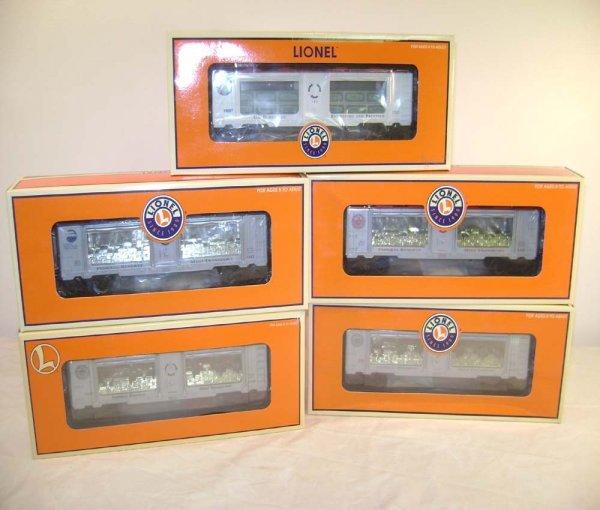 408: ABT: 5 Mint Lionel Mint Bullion Cars/OBs II - 10