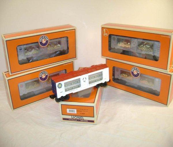 408: ABT: 5 Mint Lionel Mint Bullion Cars/OBs II