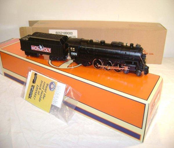 1050: ABT: Mint Lionel #52189 Monopoly Steam Engine & T