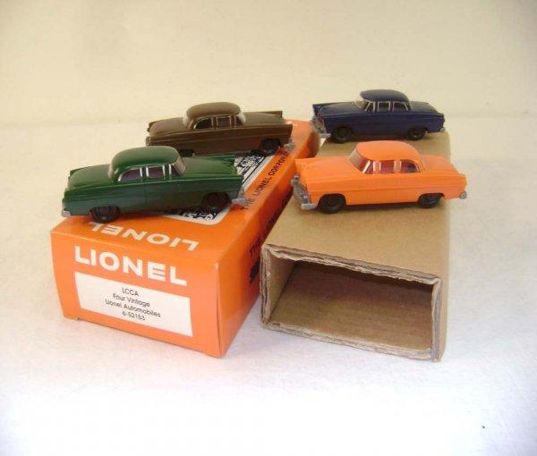 1069: ABT: Mint Lionel #52153 LCCA Set of 4 Vintage Aut