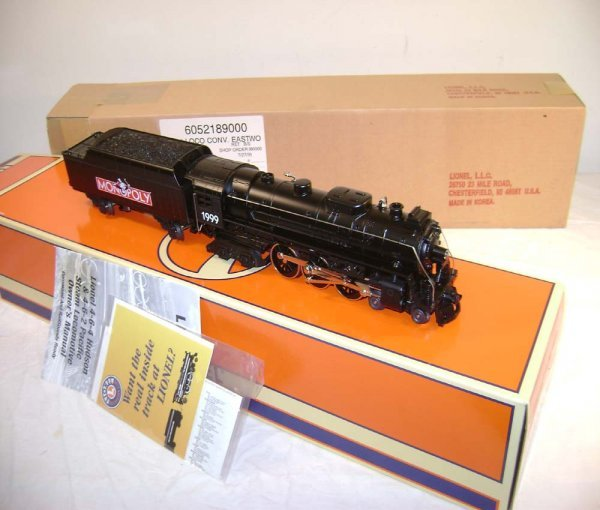 1180: ABT: Mint Lionel #52189 Monopoly Steam Engine & T