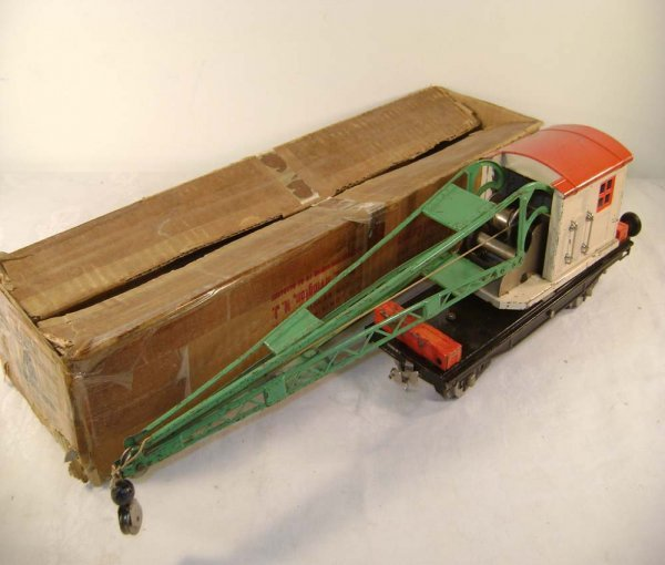 1397: ABT: Lionel #219 Ivory/Light Red Derrick Car/OB