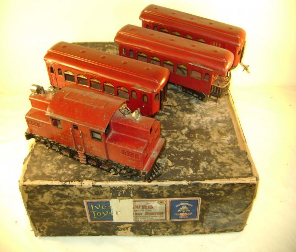 1405: ABT: Ives #701 Passenger Set with #3241 Red & 3 P