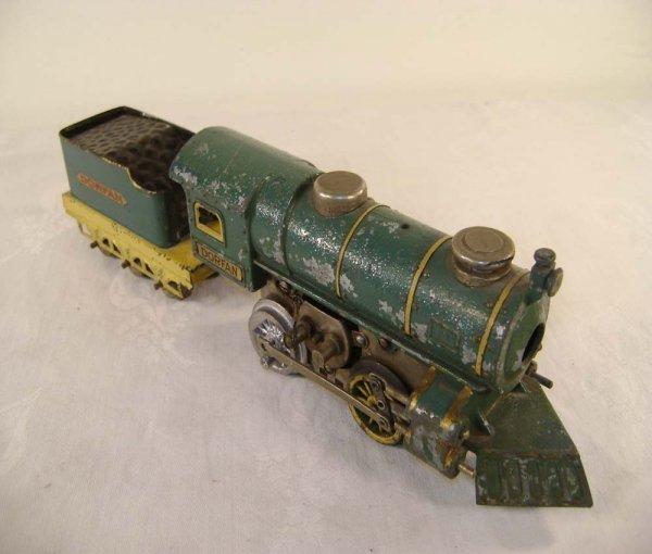 1412: ABT: Dorfan #55B Blue O Gauge Steam Engine & Tend