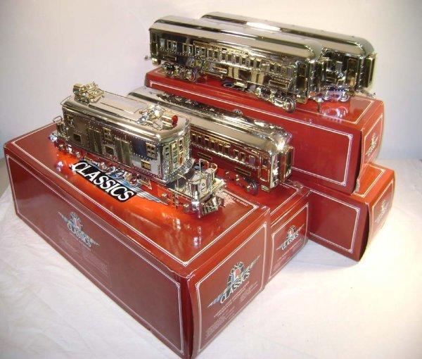 1525: ABT: Lionel Classics #13109 4 pc Chrome Mayflower