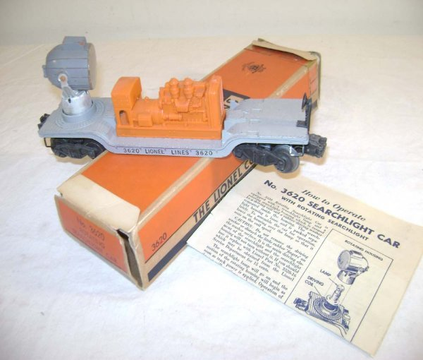 3: ABT: Lionel #3620 Searchlight w/Gray-Painted Orange