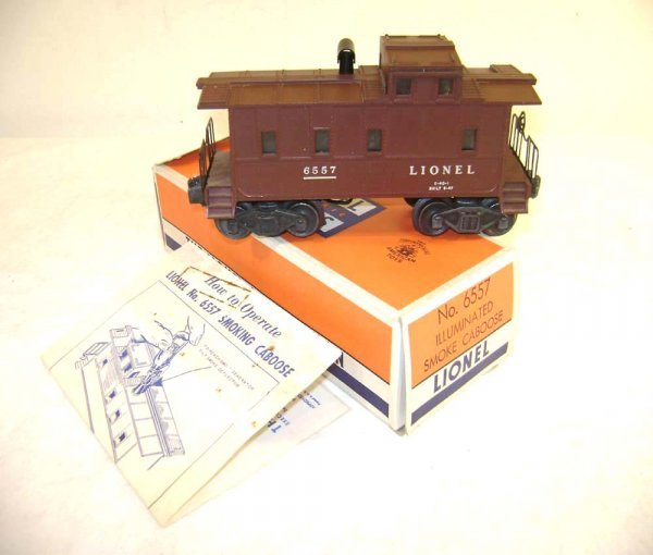 8: ABT: Lionel #6557 Smoking Caboose/Brick OB+