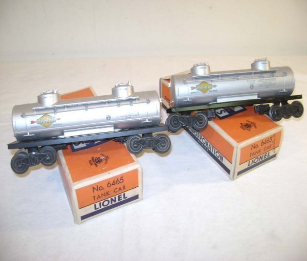18: ABT: Two Variations Lionel #6465 Tank Cars/OBs