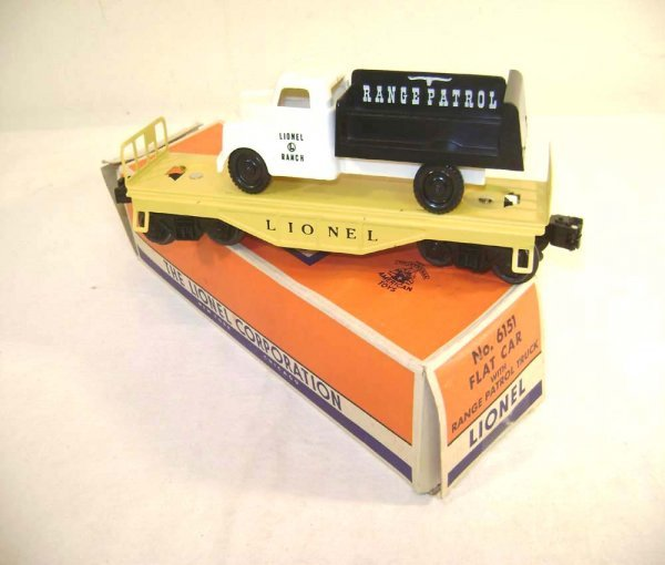 22: ABT: Lionel #6151 Range Patrol Vehicle Flat/OB