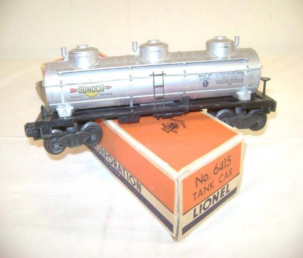 231: ABT: Lionel #6415 Sunoco Three-Dome Tank Car/OB