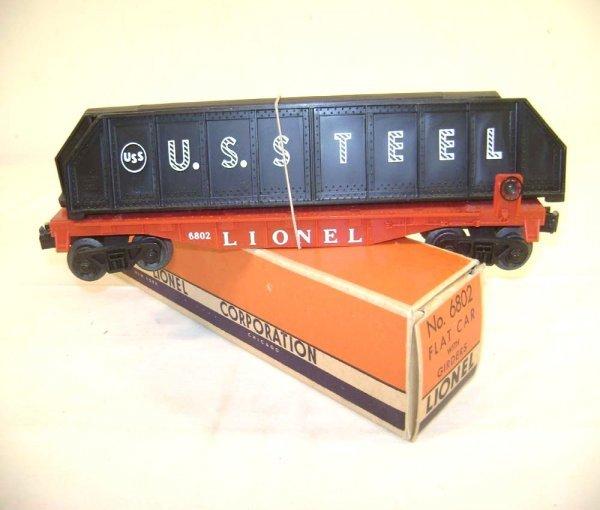 237: ABT: Lionel #6802 Flat Car with Girders/OB