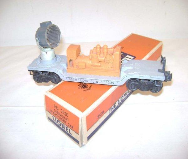 238: ABT: Lionel #3520 Operating Searchlight Car/OB
