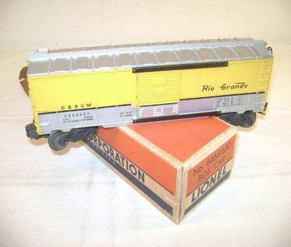 239: ABT: Lionel #6464-650 D&RG Type IIB Box Car/OB