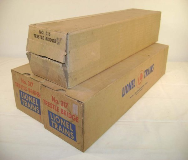 243: ABT: Original Lionel Boxes for #316/#317 Bridges