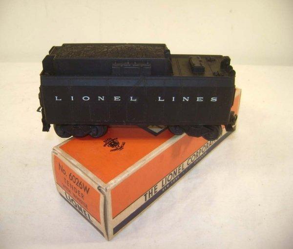 253: ABT: Nice Lionel #6026W Whistle Tender/OB