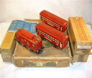 ABT:Nice Lionel #347 Red Passenger Std Set/OB