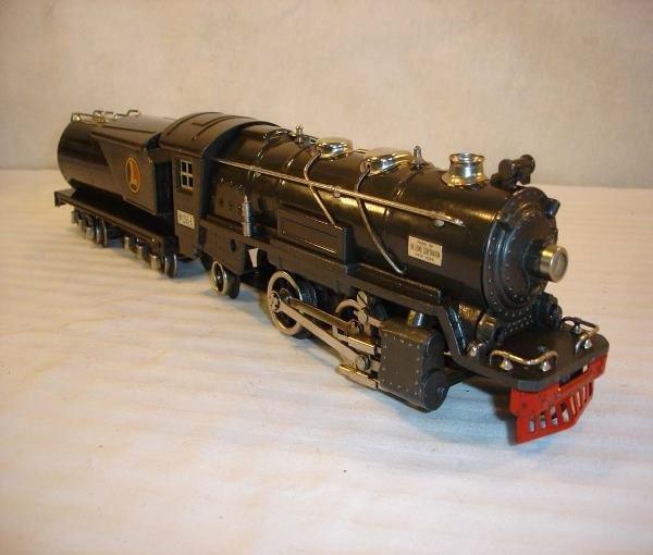 14: ABT:Nice Lionel #255E/263WX Gunmetal Steam Engine &