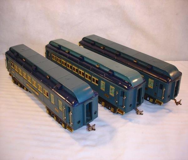 24: ABT:Nice Lionel #420/421/422 Blue Comet (Brass) Car