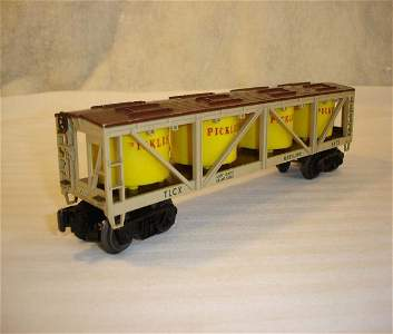 138: ABT:Scarce Lionel #6475 Pickles Vat Car w/o Staves