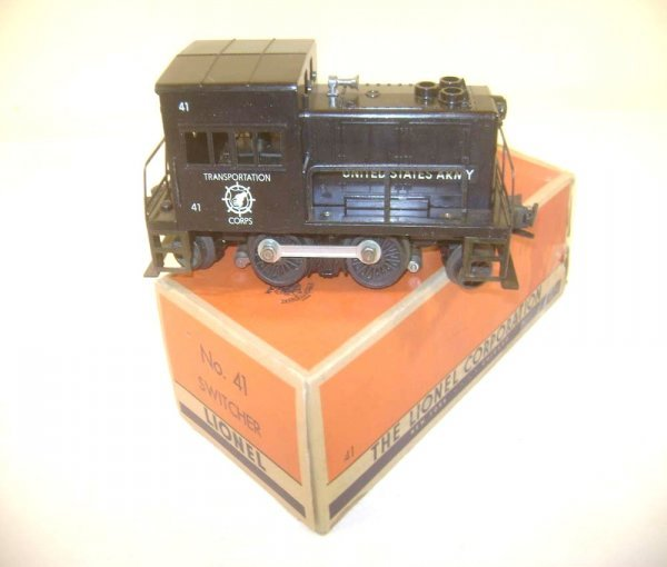 9: ABT: Lionel #41 US Army Switcher/OB