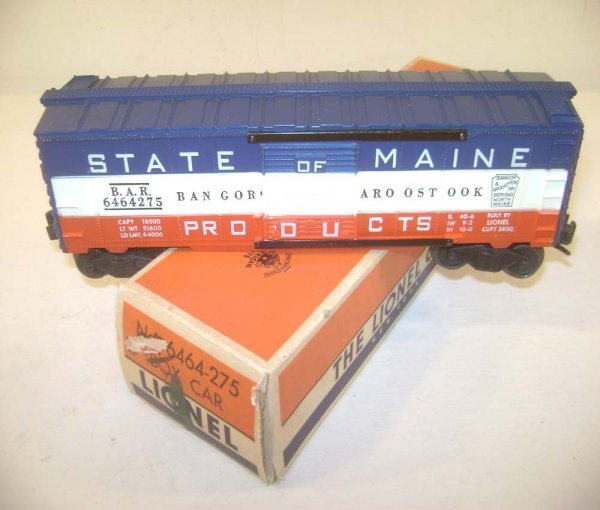 21: ABT: Scarce Lionel #6464-275 State of Maine Box Car