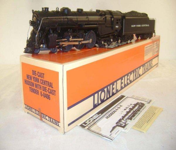 1: ABT: Lionel #8406 Diecast Hudson 783 Steam Engine &