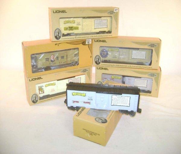 14: ABT: 6 Joshua Lionel Cowen Post-War Years Box Cars