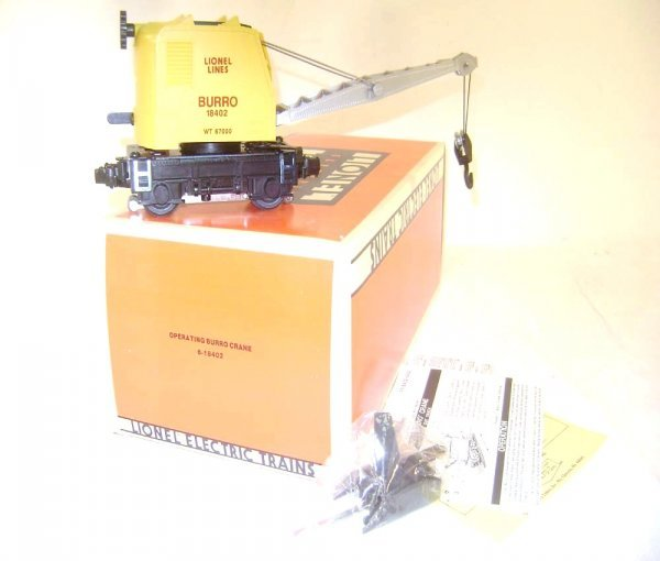 17: ABT: Lionel #18402 Yellow LL Motorized Burro Crane/