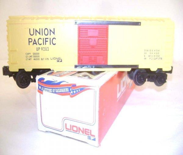 22: ABT: Scarce Lionel #9203 Union Pacific Box Car/Red