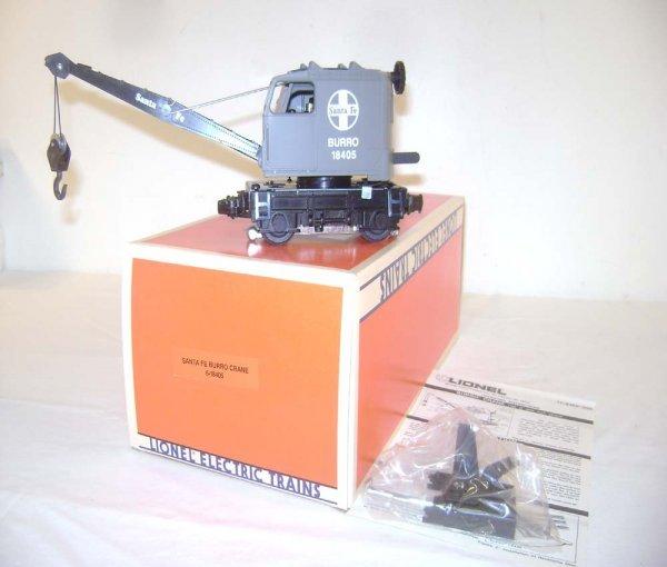 23: ABT: Lionel #18405 Santa Fe Operating Burro Crane/O