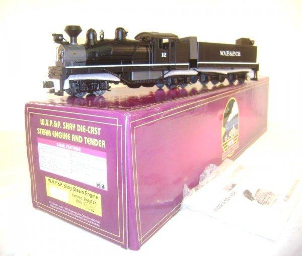 180: ABT: MTH #20-3023-1 WVP & P Shay Engine & Tender/O