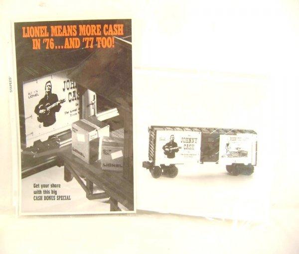 14: ABT: Original Lionel Johnny Cash Promotional Box Ca