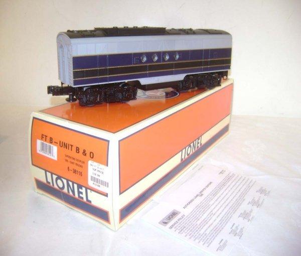 16: ABT: Lionel #38116 B&O FT-B Unit/OB
