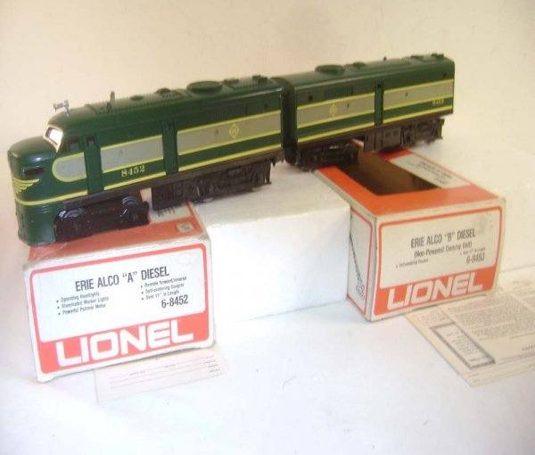 19: ABT: Lionel #8452/8453 Erie Alco AB Diesels/OBs