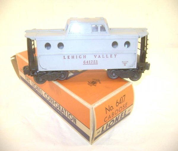 2: ABT: Scarce Lionel #6417-50 Gray Lehigh Valley Caboo