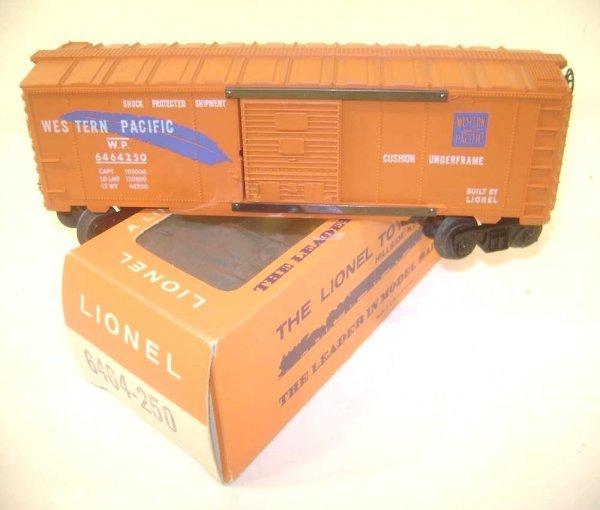 4: ABT: Mint Lionel #6464-250 Western Pacific Box Car/B