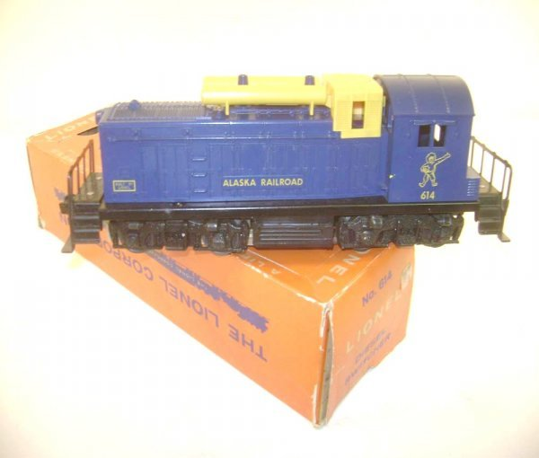 5: ABT: Scarce Lionel #614 Alaska Switcher with Yellow
